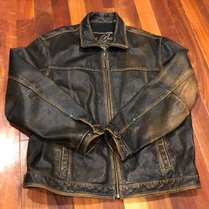 ⭐️Tommy Bahama Brown Leather Distressed Jacket L